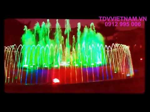Thi công lắp đặt Đài phun nước quảng trường Bắc Sơn - Lạng Sơn