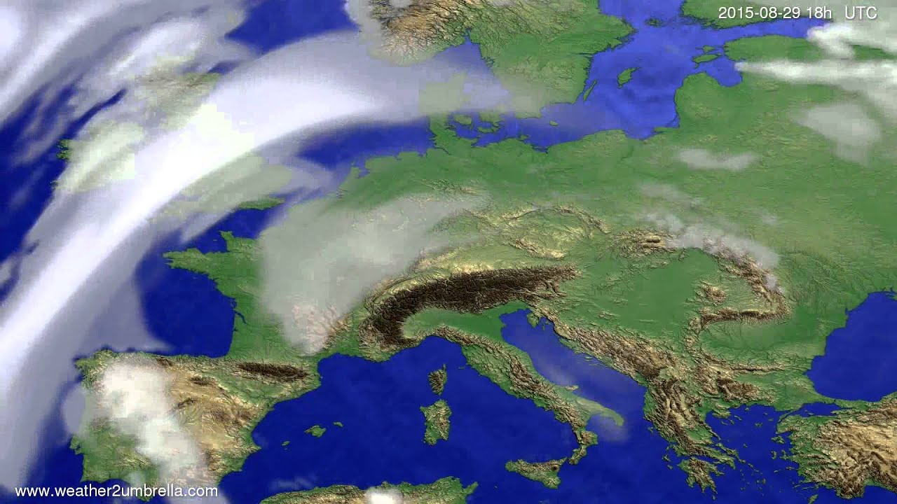 Cloud forecast Europe 2015-08-26