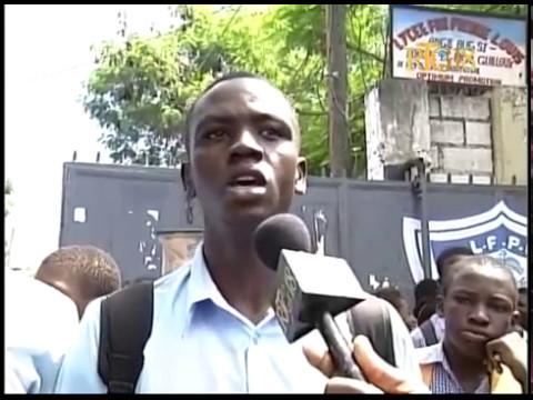 Manifestation des lycéens à Port-au-Prince et à Carrefour