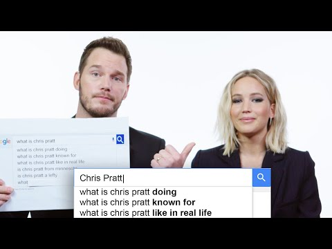 Jennifer Lawrence  Chris Pratt Answer the Web s Most Searched