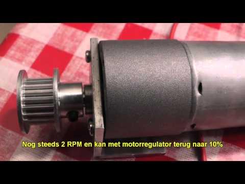 Test DC 12V Gearbox motors 80&2 rpm for slider