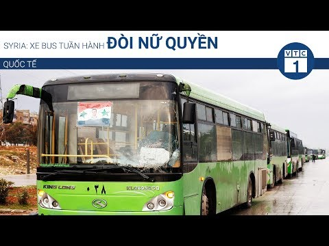 Syria: Xe bus tuần hành đòi nữ quyền | VTC1 - Thời lượng: 41 giây.