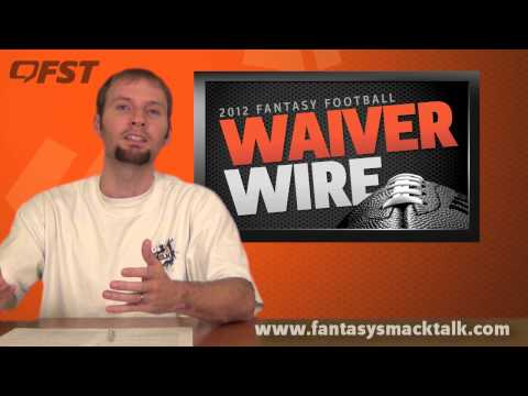 2012 Fantasy Football – Week 14 Waiver Wire Pick Ups