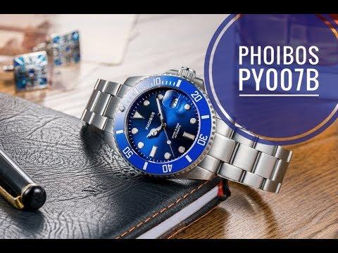 Phoibos PY007B - отличный хомаж Субмаринера (видео)