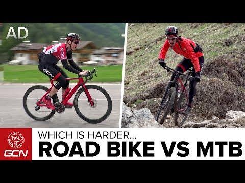 Road Bike Vs Mountain Bike: Which Is Harder? (видео)