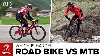Video Road Bike Vs Mountain Bike: Which Is Harder? MP3, 3GP, MP4, WEBM, AVI, FLV Juli 2019