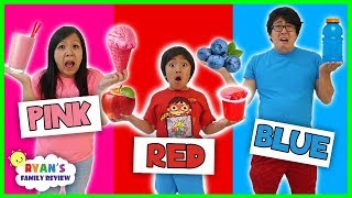 Eating Only ONE Color of Food for 24 Hours!  ( Rainbow Food Challenge)