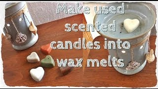 DIY Solutions ♥ Turn Used Scented Candles Into Wax Melts - YouTube
