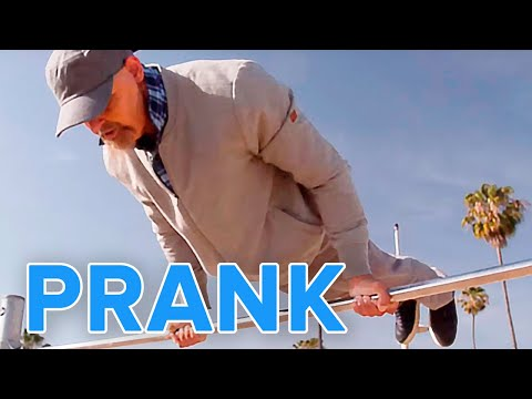 Old Man Street Workout Prank | Muscle Madness