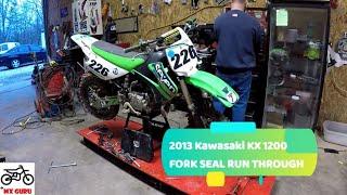 5. Kawasaki KX 85 / 100 2013 ~ Fork Seal Replacement Run Through ~ Motocross Suspension ~