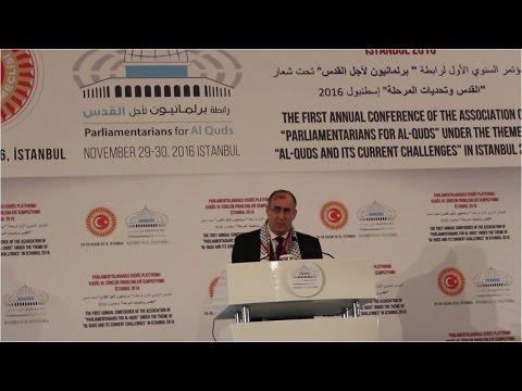 كلمة الدكتور جمال حشمت رئيس البرلمان المصري في الخارج خلال مؤتمر برلمانيون لأجل القدس