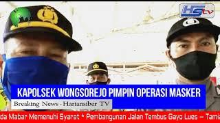 Kapolsek Wongsorejo Pimpin Operasi Yustisi Bersama Gugus Tugas covid-19 kecamatan Wongsorejo