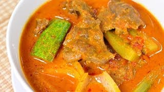 Thai Food - Boom Bai Curry With Beef (Gang Boom Bai)