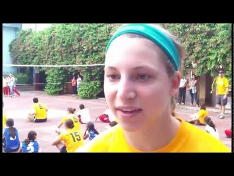 Volleyball's Marissa Hughes in Granada, Nicaragua