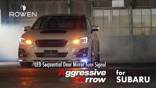 for SUBARU ROWEN LED Sequential Door Mirror Turn Signal《Aggressive Arrow》