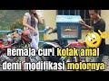 REMAJA CURI KOTAK AMAL !! demi modifikasi motornya !!