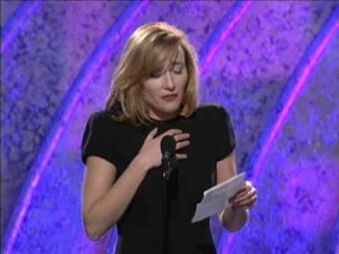 pretended - Emma Thompson's win for Best Screenplay at the Golden Globes (1995). Instead of speaking as herself, she read a speech from the point of view of Jane Austen,...