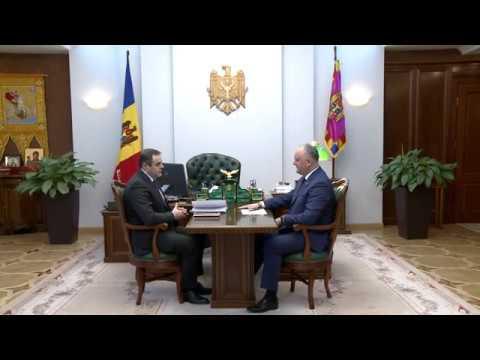 """Șeful statului a avut o întrevedere cu Președintele Consiliului de Administrație al SA """"Moldovagaz"""""""