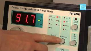 Experimento Franck Hertz tubo de Neón
