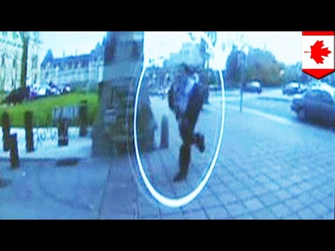 footage - Newly released security footage shows Michael Zehaf-Bibeau's arrival after he opened fire on guards at Ottawa's war memorial. He parked his brown Toyota Corolla in front of the East Block...