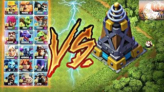 Mega Tesla vs All Troops -Clash of Clan|ReBeL BoY sAlMaN.