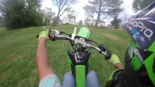 7. KLX 140 riding and wheelies