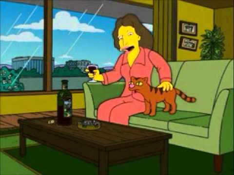 Origin of Crazy Cat Lady from 'The Simpsons.'