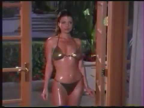 Yasmine Bleeth In Shiny Golden Bikini