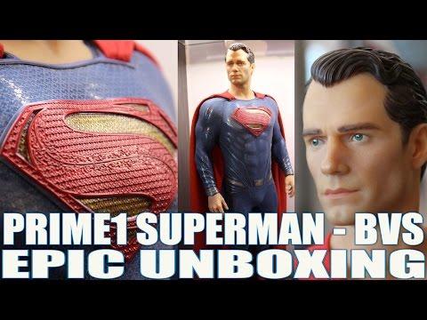 PRIME 1 SUPERMAN 1:2 - BATMAN V SUPERMAN - UNBOXING 3 EN 1