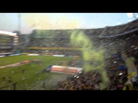 Video - Recibimiento Boca Vs riBer, tornero argentino 2015 - La 12 - Boca Juniors - Argentina