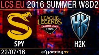 H2K vs Splyce - LCS EU Summer Split 2016 - W8D2