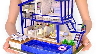 Video DIY Miniature Modern Party Home with Real Swimming Pool MP3, 3GP, MP4, WEBM, AVI, FLV Juni 2019