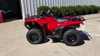 10. 2017 Honda Rancher 420 2x4 ATV (TRX420TM1H) Walk-Around Video | Red | Review @ HondaProKevin.com
