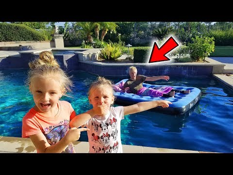 Uncle Wakes Up With Bed In Our Swimming Pool Prank! (HE FALLS IN!)