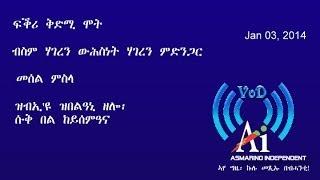 ድምጺ ደሊና Voice Of Delina (VoD) Jan 3, 2014