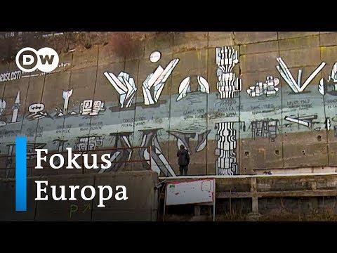 Bosnien: Graffiti von Künstlern aus Sarajewo gegen di ...