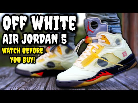 WORTH THE HYPE? Off-White Air Jordan 5 SAIL ON FEET REVIEW! Watch BEFORE You BUY! WORTH RESALE?
