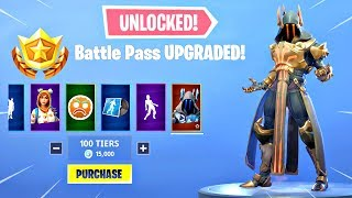 BUYING ALL 100 TIERS! Season 7 Battle Pass ALL ITEMS UNLOCKED!! - Fortnite Battle Royale