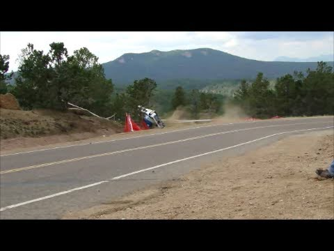 Video captures electric car's crash at Pikes Peak 2013