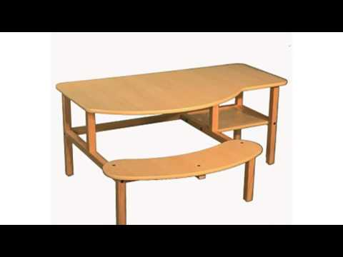 Video Video ad on the Childs Wooden Computer Desk For 1