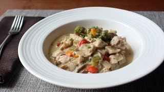 Chicken à la King Recipe - Creamy Chicken, Mushroom, and Pepper Gravy by Food Wishes
