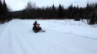 9. Yamaha Apex LTX snowmobile 90MPH flyby