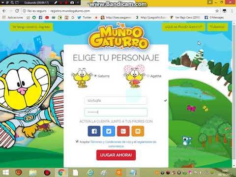 Video ¿Cómo crear una cuenta en Mundo Gaturro? download in MP3, 3GP, MP4, WEBM, AVI, FLV January 2017