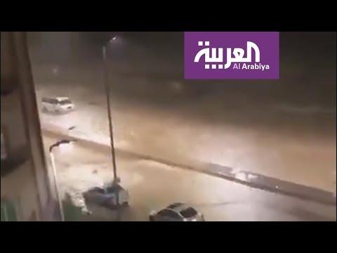 العرب اليوم - شاهد: مصر تشهد أمطارًا غزيزة نادرة تغلق القاهرة وضواحيها