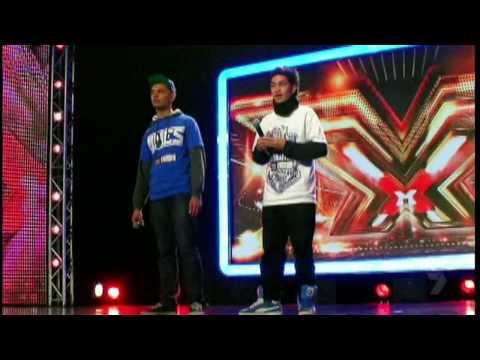 Lazy J & Big Guy Audition (X Factor Australia)
