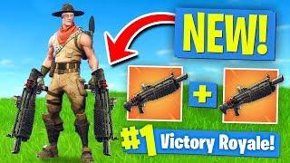 *NEW* DOUBLE HEAVY SHOTGUN Strategy! Fortnite Battle Royale