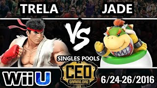 CEO 2016 Pools – PG | Trela (Ryu) Vs. Jade (Bowser Jr.) SSB4 – Smash Wii U – Smash 4