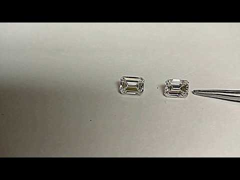compare between good and bad emerald cut diamond