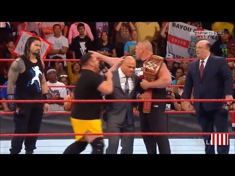 WWE RAW 12 JULY 2017 || BROCK LESNAR VS ROMAN REIGNS VS SAMOA JOE ||