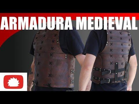 """Armadura medieval de """"couro"""""""